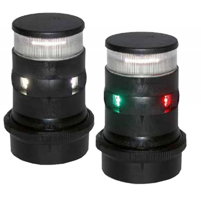 Luz de Navegacion Led Combinada Aquasignal S34 Carcasa Blanca Tricolor y fondeo