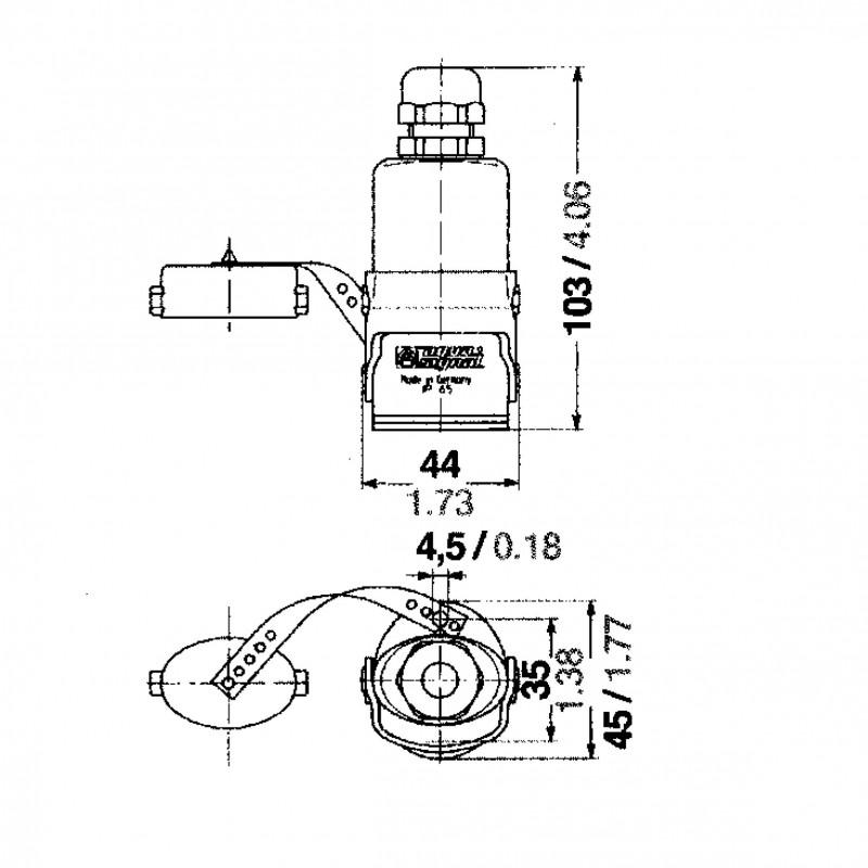 Juego Conectores electricos Exterior Horizontal Policarbonato