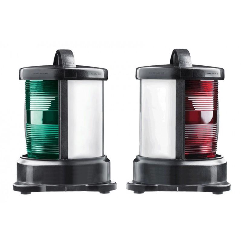 Luz de Navegacion DHR S55 hasta 50mt Carcasa negra Señal Verde