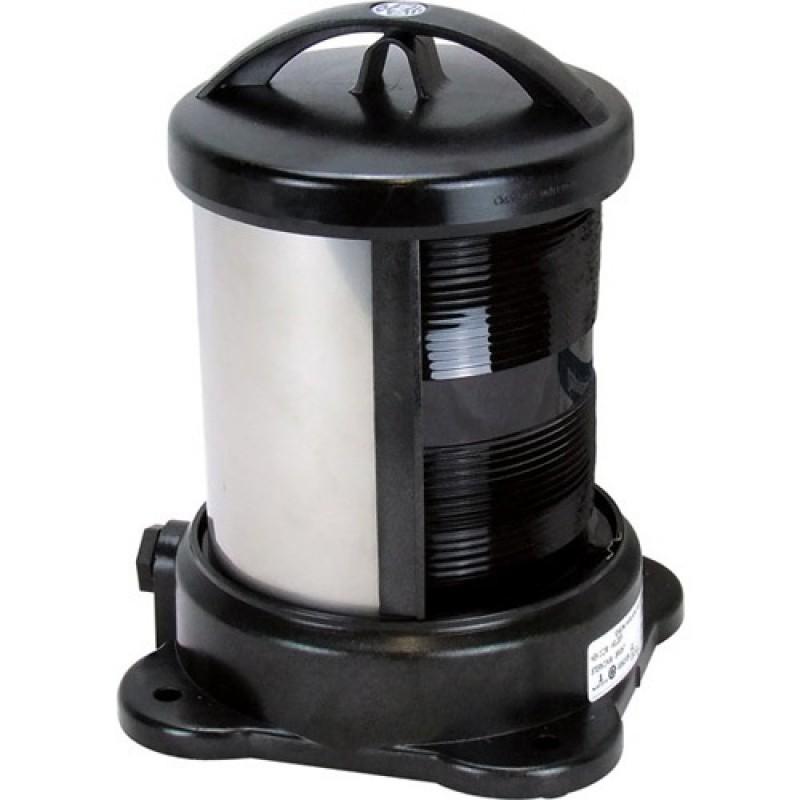 Luz de Navegacion DHR S55 hasta 50mt Carcasa negra Señal Blanca Popa