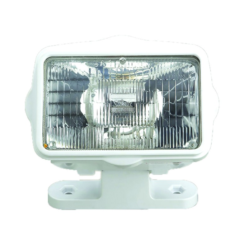 Foco Marino ABS blanco 12v x 60wt, con soporte