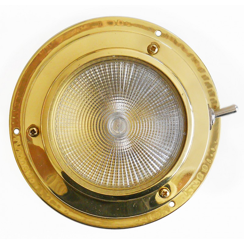 Brass ceiling light with switch 110mm