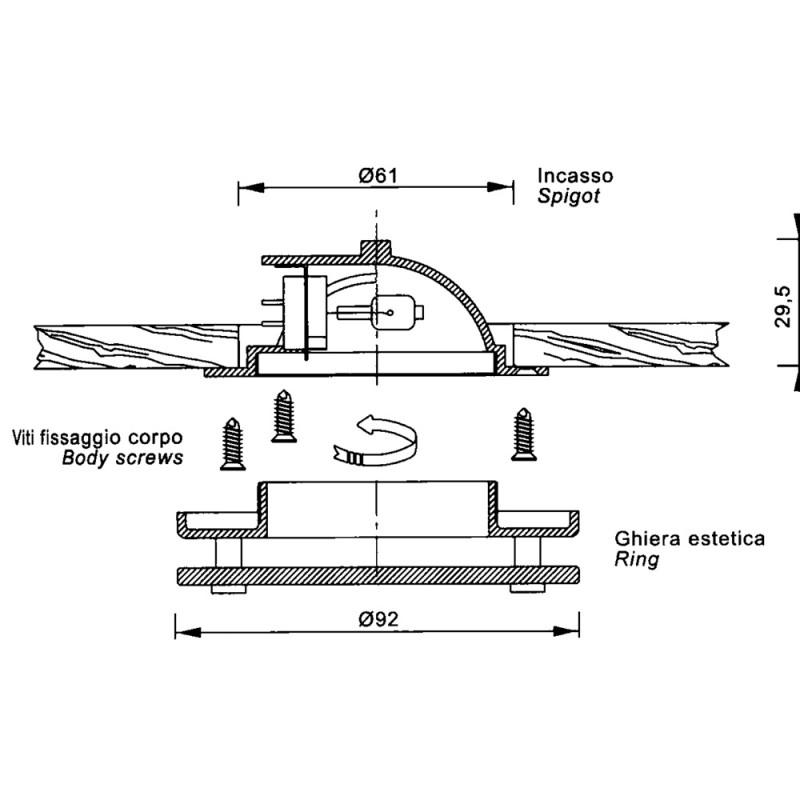 Apply nautical brass chrome standard model S