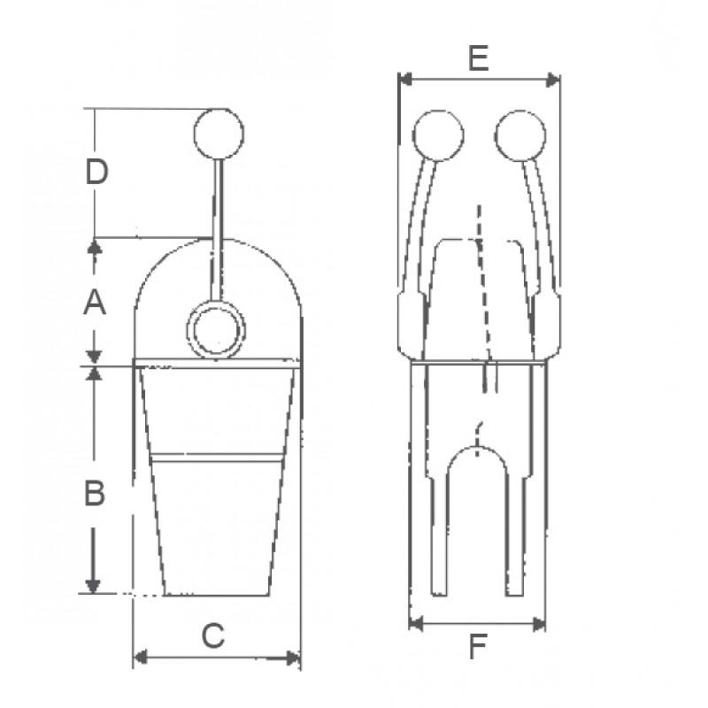 Mando Morse simple cromado solo acelerador