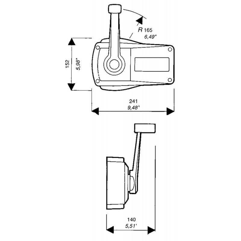 Mando Morse Fuerabordas Ultraflex B90 color negro