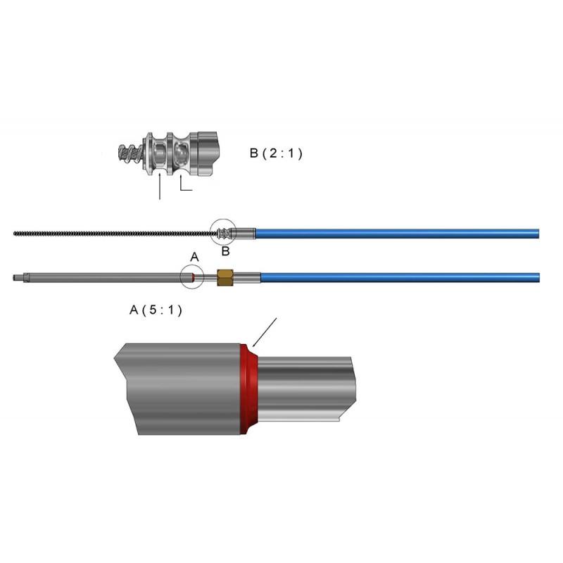 Cable de dirección Ultraflex M90 Mach 22 pies