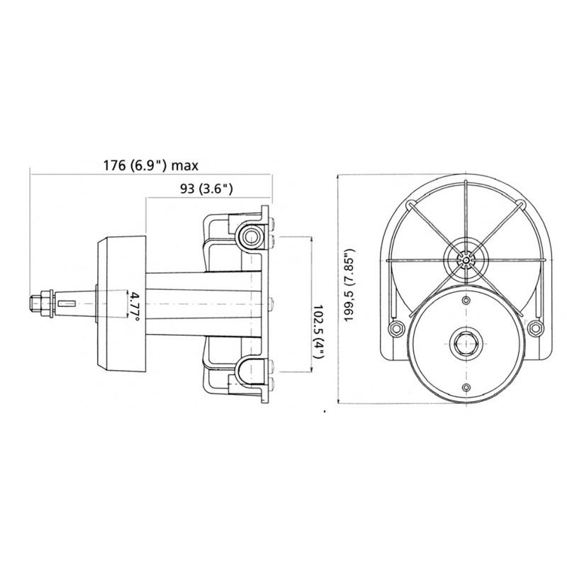 Caja de Direccion Ultraflex T85 Hasta 200hp