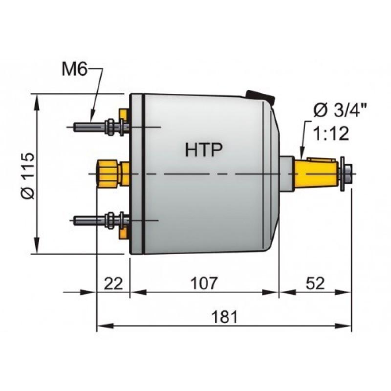Bomba de dirección hidráulica Vetus HTP 20