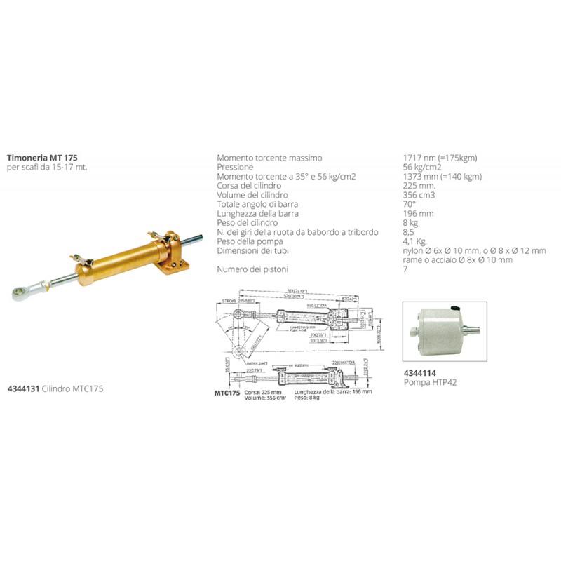 Cilindro Vetus MTC 175 Direcciones Hidraulicas