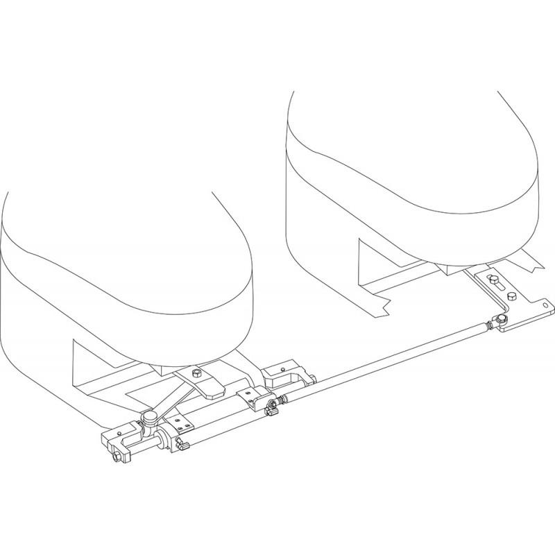 Universal hydraulic steering rod GF350HD double cylinder
