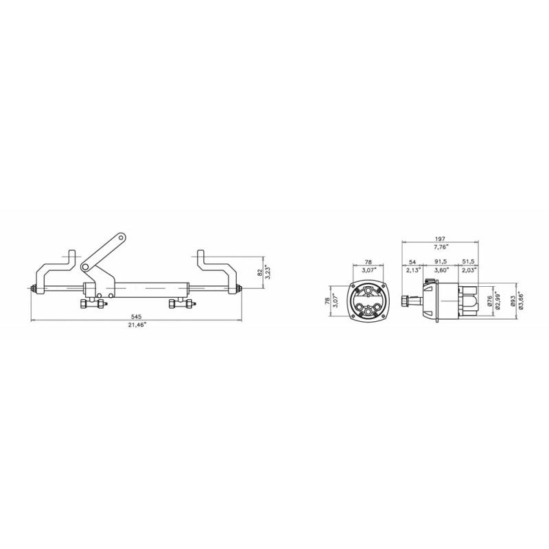 Dirección hidráulica Navi Mare Gf90bt para fuerabordas Yamaha 40-50-60hp