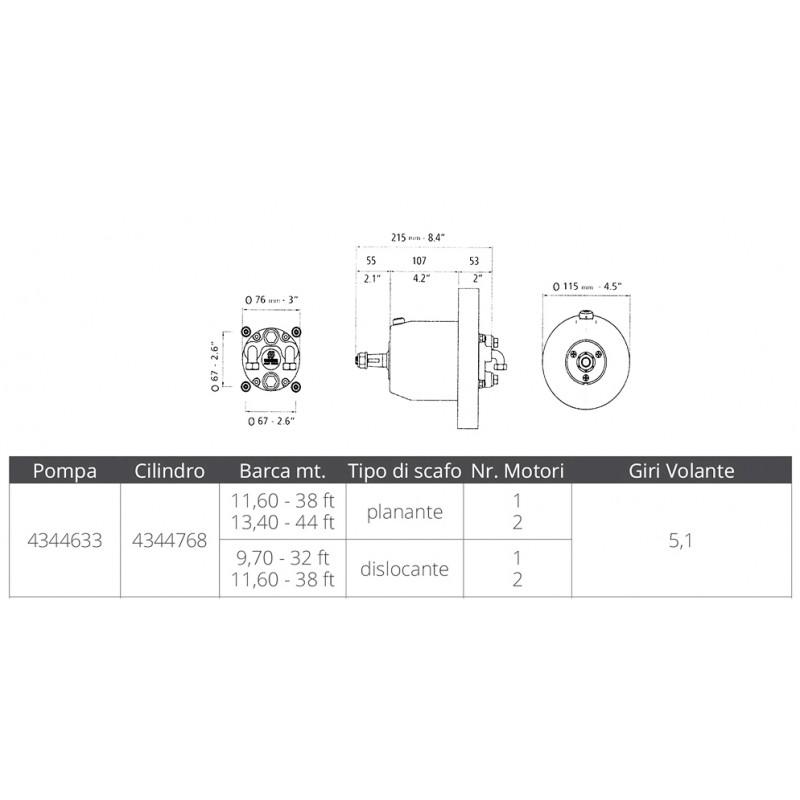 Bomba para direcciones hidraulicas Ultraflex UP33F