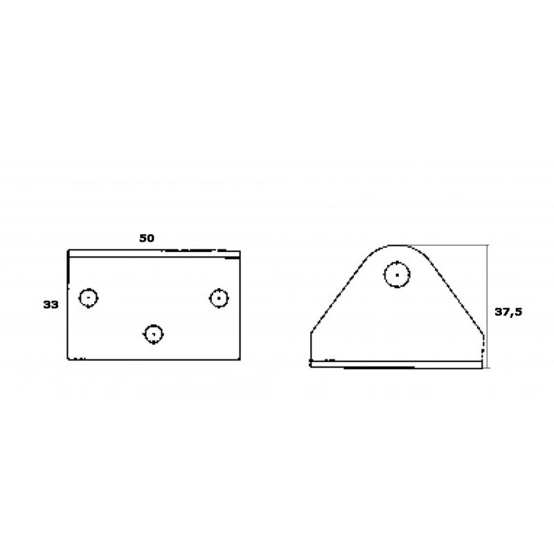 Soporta amortiguadores de gas cuadrados de acero inoxidable