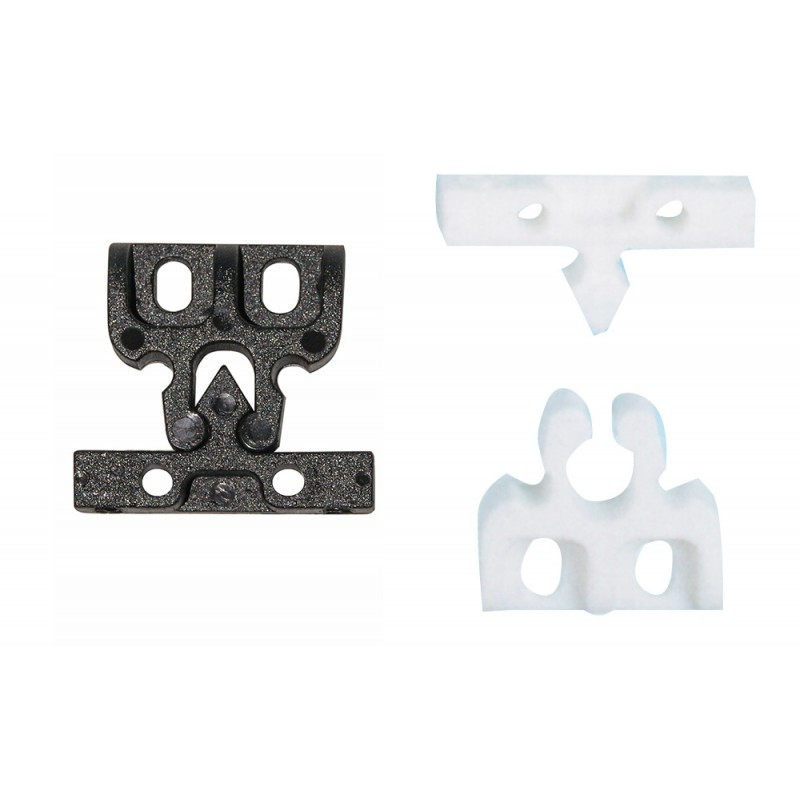 White Snap-in Doors Latch
