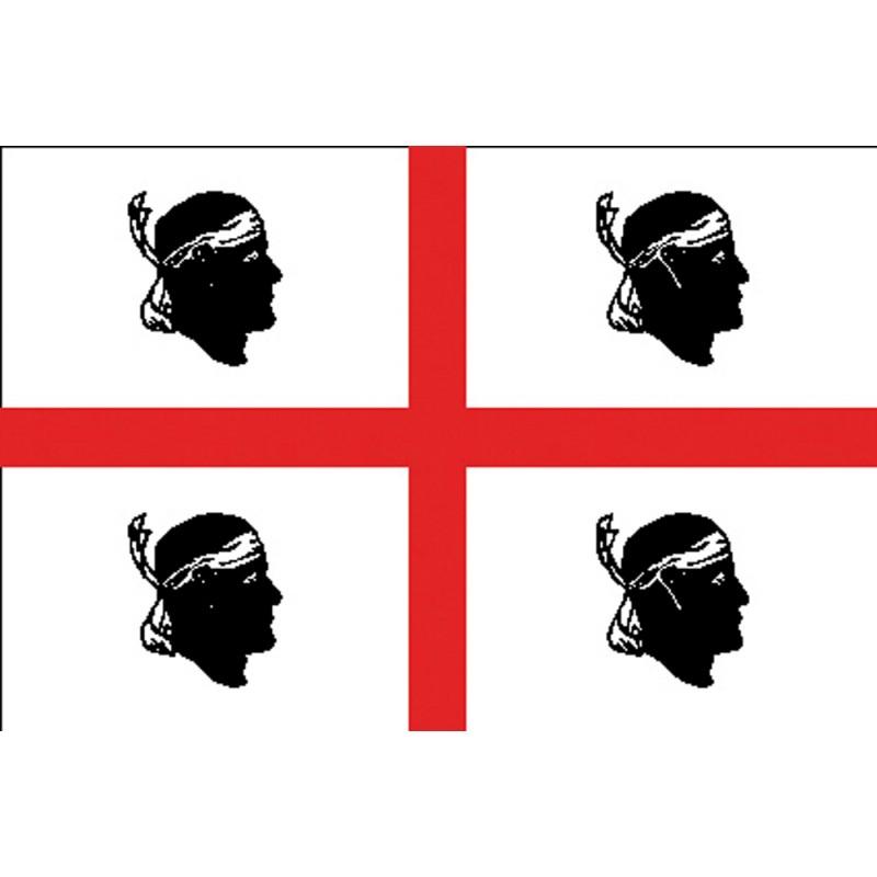 Flag of Sardinia 20 x 30 Cm.