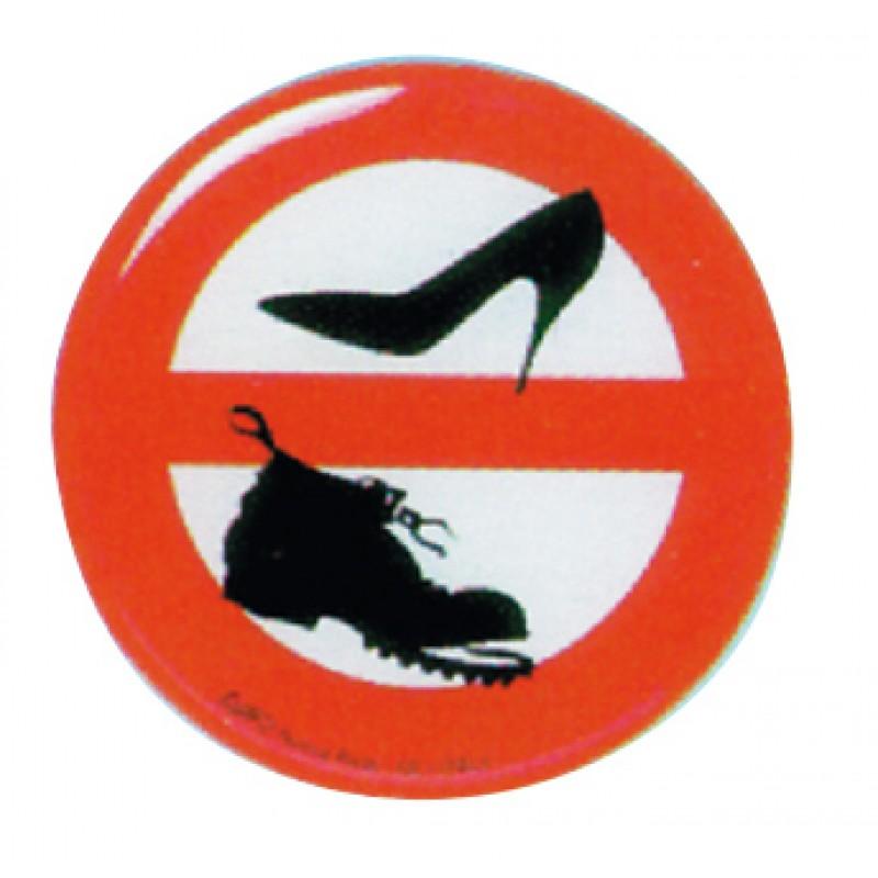 Adhesivo 80mm Prohibido Zapatos a bordo