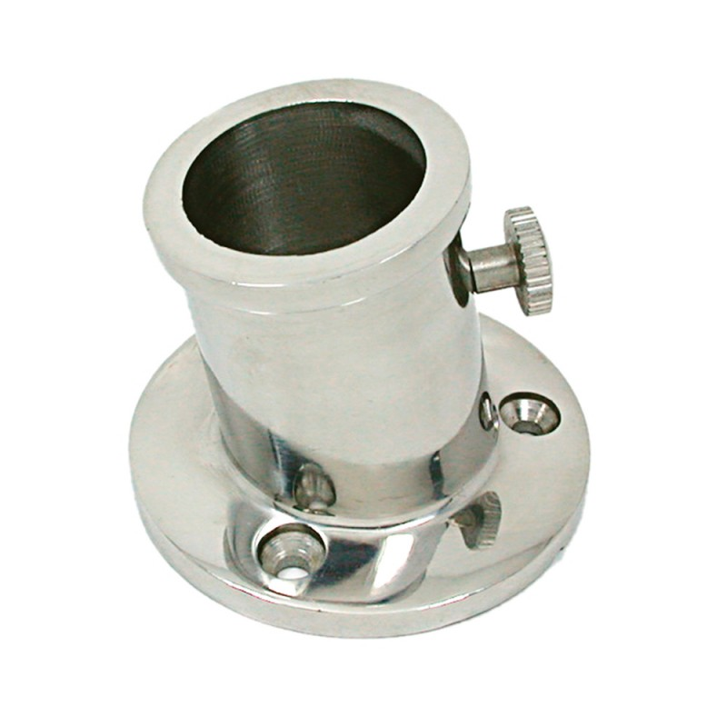 Base and support stainless steel flagpoles mm. 32