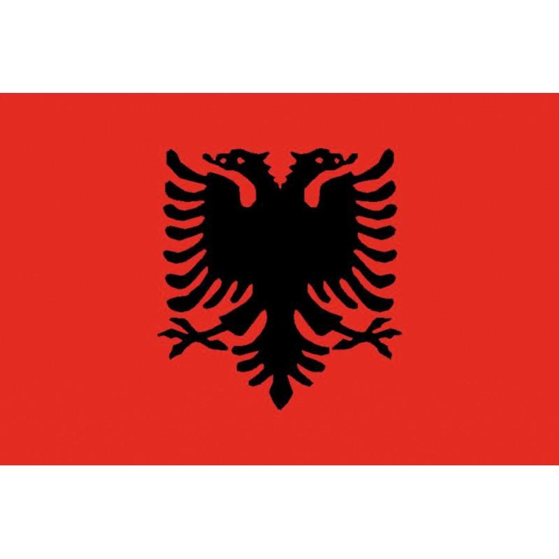 Bandera de Albania 30 x 45 Cm.