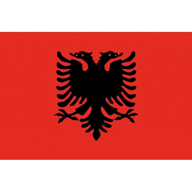 Bandera de Albania 40 x 60 Cm.