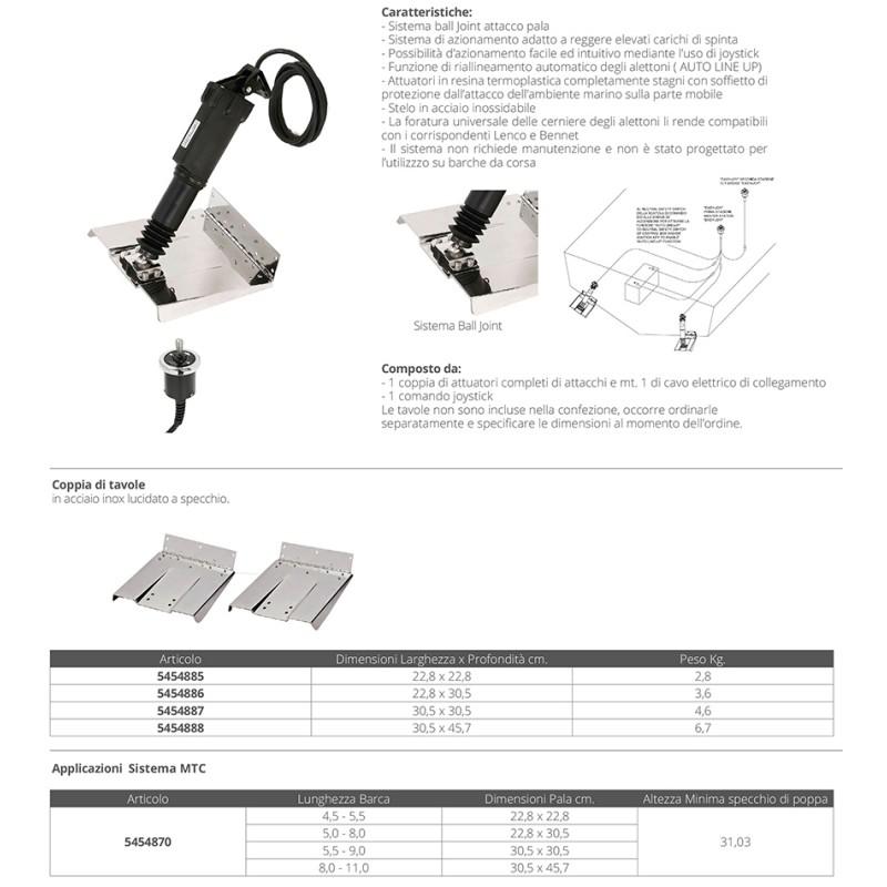 Kit 2 Electromechanical Actuator Trim Tabs Uflex 273mm, 12v