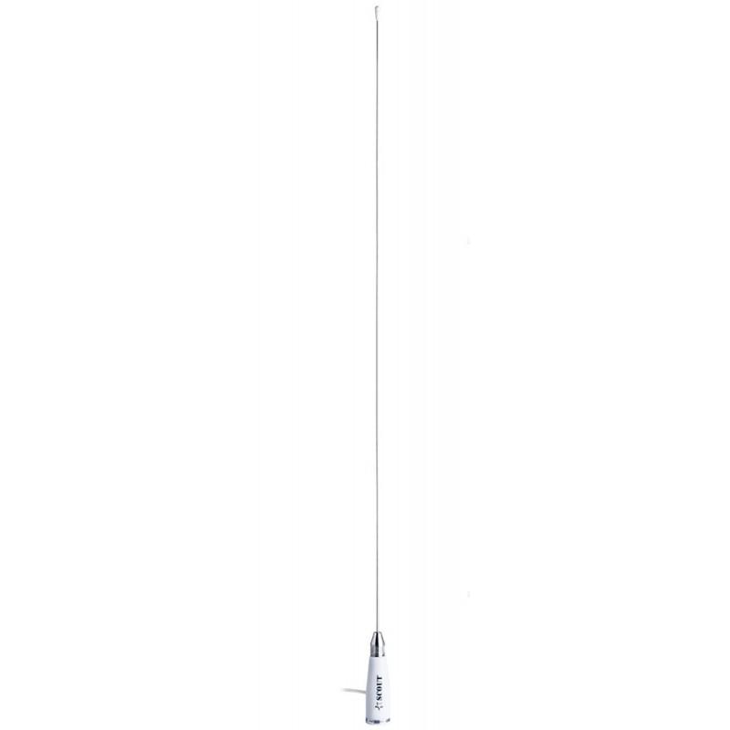 Vhf antena 90 Cm. acero inoxidable