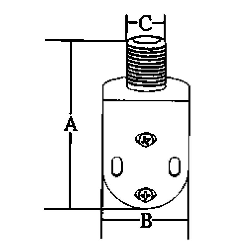Base Inox para Antenas, Modelo para Montaje en Barandillas 22-25mm