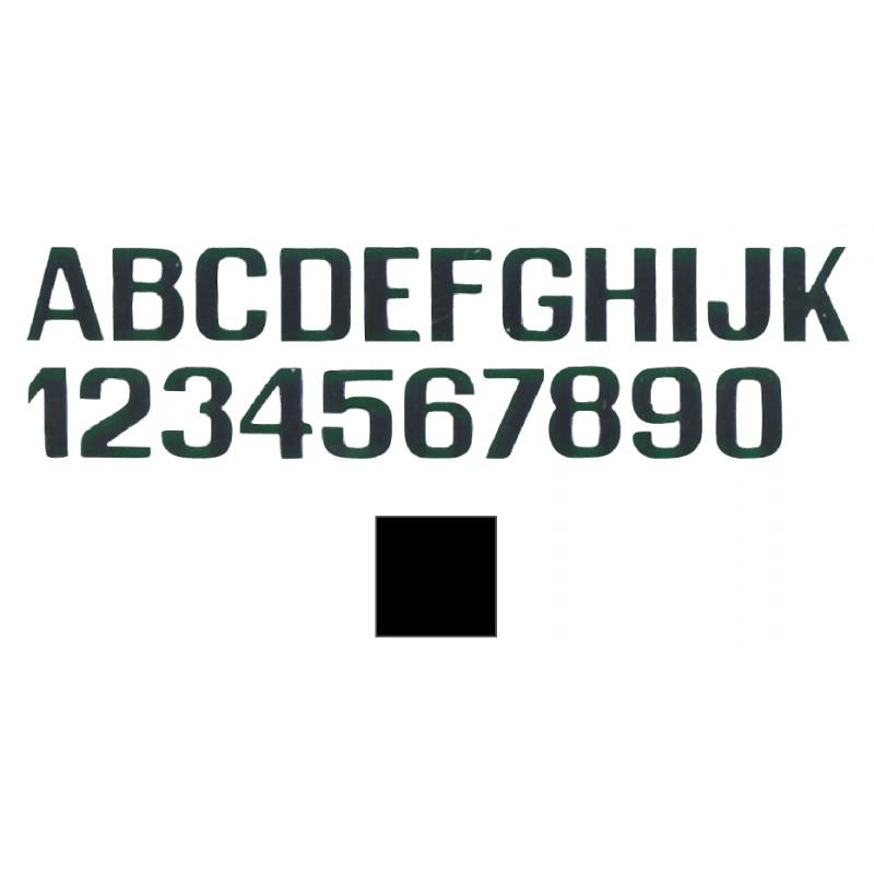 Number 0 adhesive black 200 mm