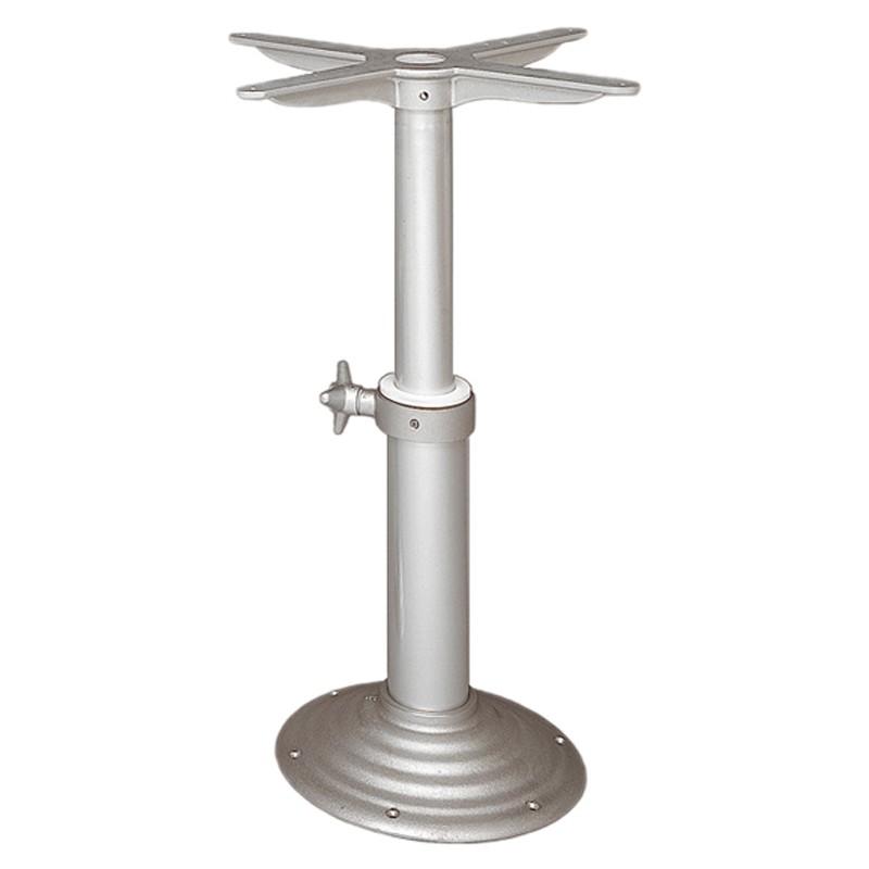 Pedestal en Aluminio para Mesas a gas. Ajustable 550-780 mm