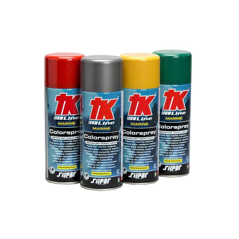 Spray paint blue metallic for Nanni Marine Engines