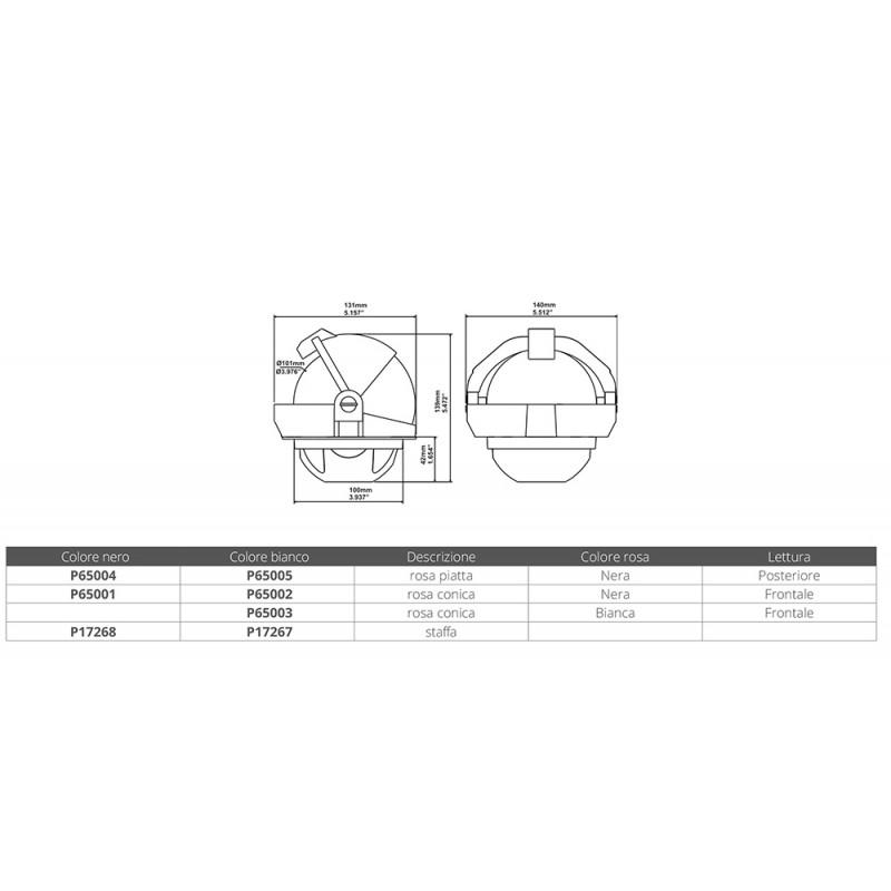 Compas Plastimo Offshore 105 Negro empotrable