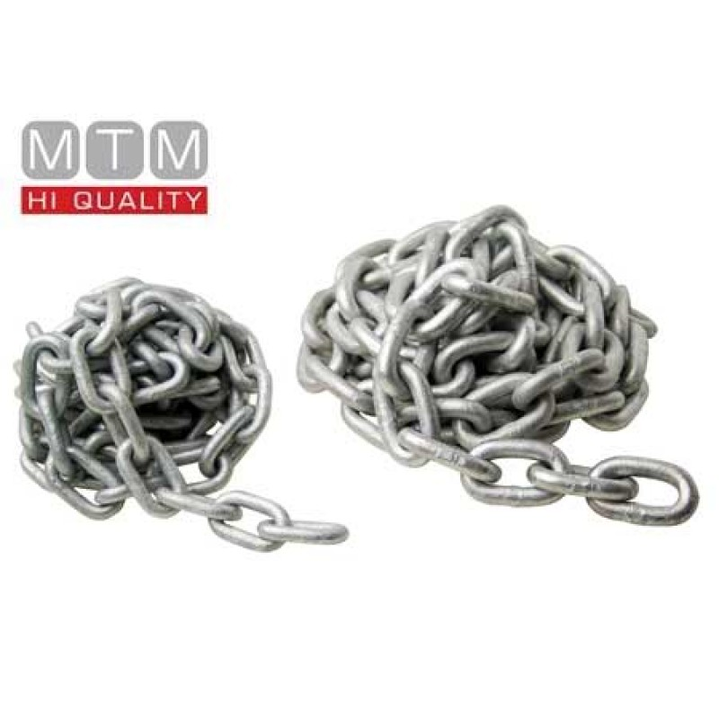 2mt section 10mm Galvanized Chain