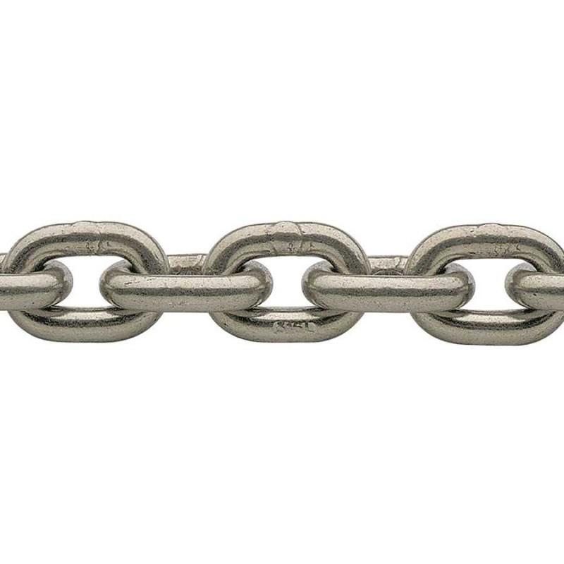Cadena calibrada de acero inoxidable 10-30mm x 30mt