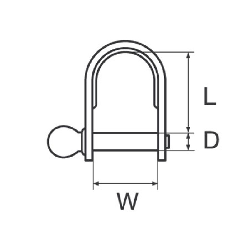 Stainless Steel stamped Dee Shackle 4 x 24mm