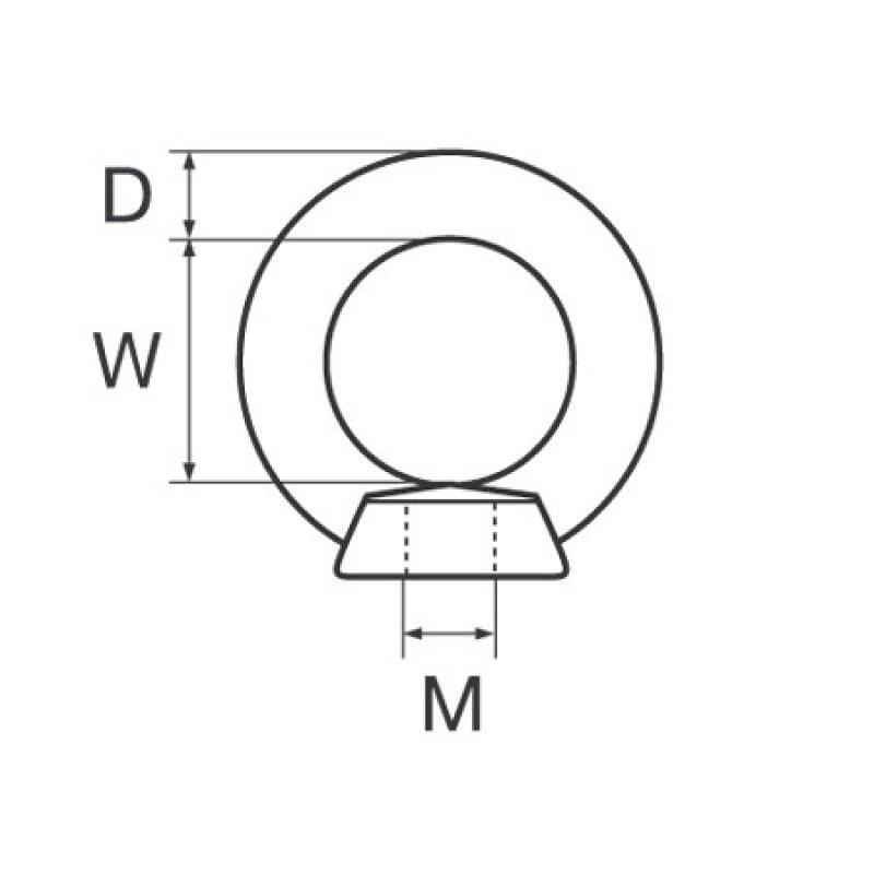 Tuerca de Ojo hembra M16