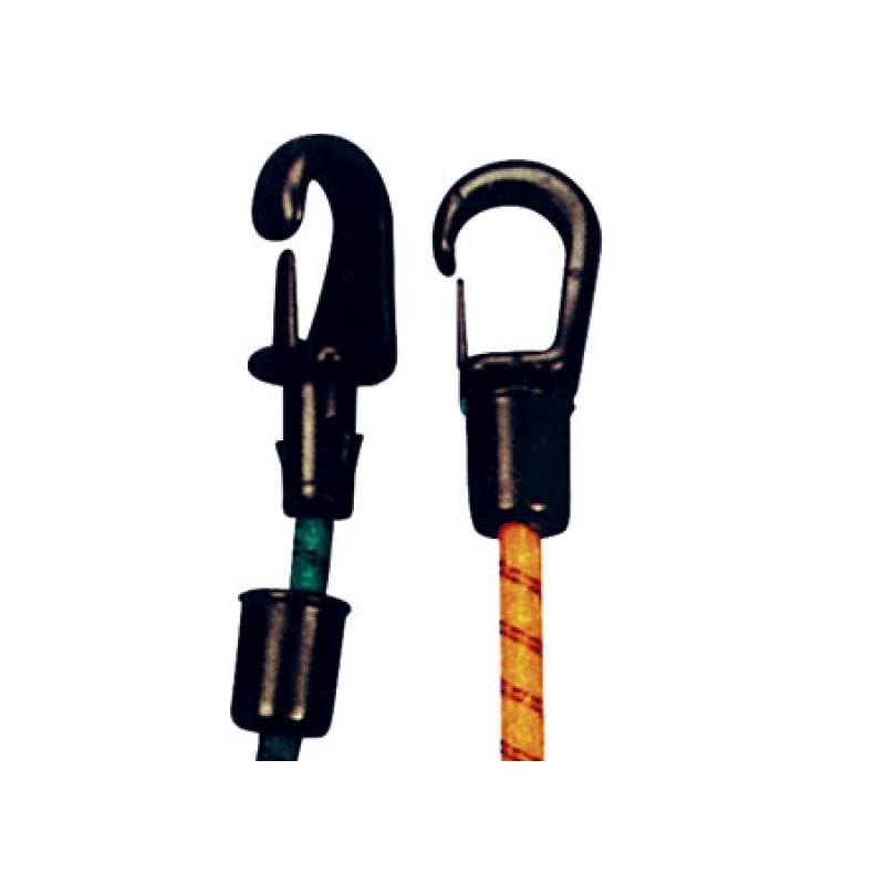 Mosqueton Automatik Negro para Cuerda Elástica 8mm