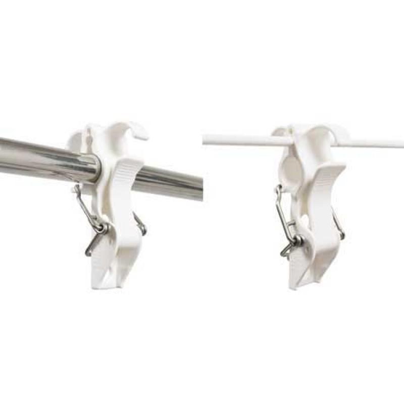 Juego Soportes Blancos defensas o Boyas Fijación Barandilla 22 a 25mm