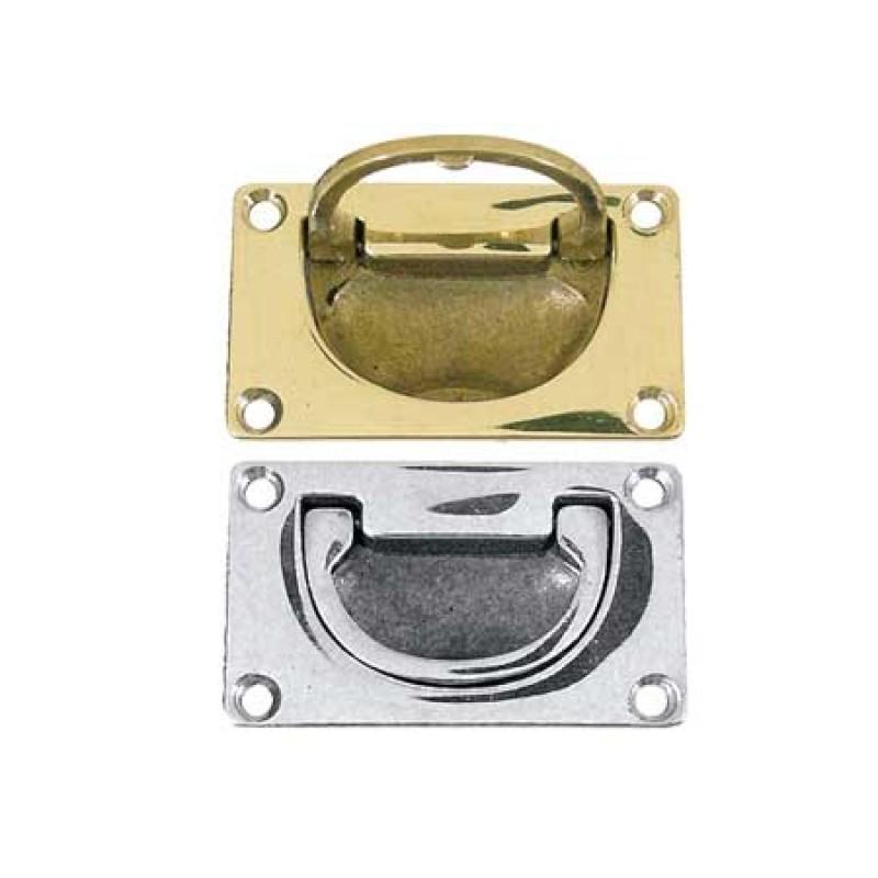 Lifting brass handle 80 x 49 x 13mm