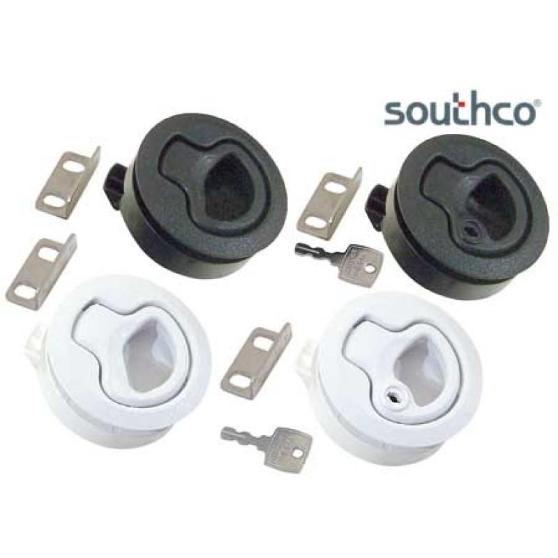 Southco White key closure button