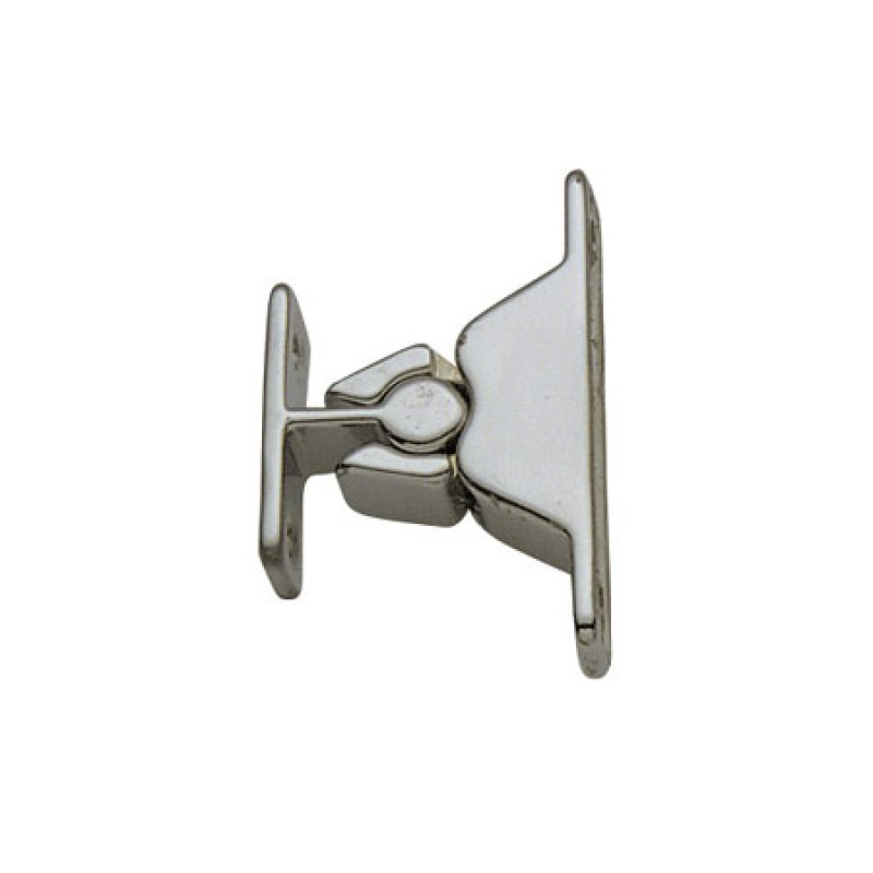 Chromed Brass push catch for doors and hatches 60 x 12mm