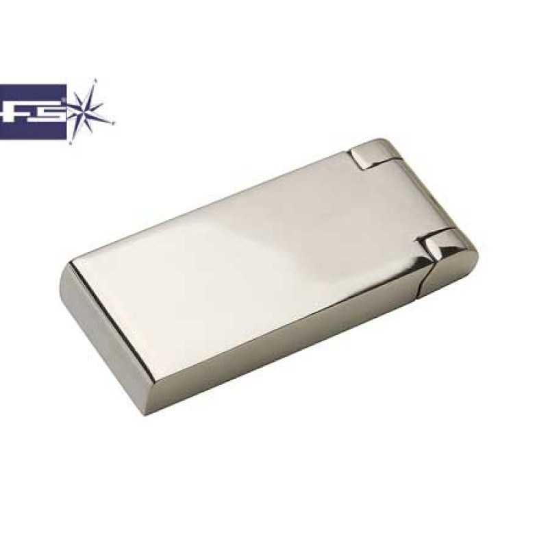 Mirror-polished stainless steel M slim flush excenter hinge 70 x 30 mm