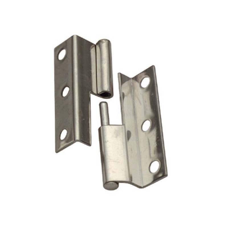 Offset hinge stainless steel Right H55 L19 / 16mm