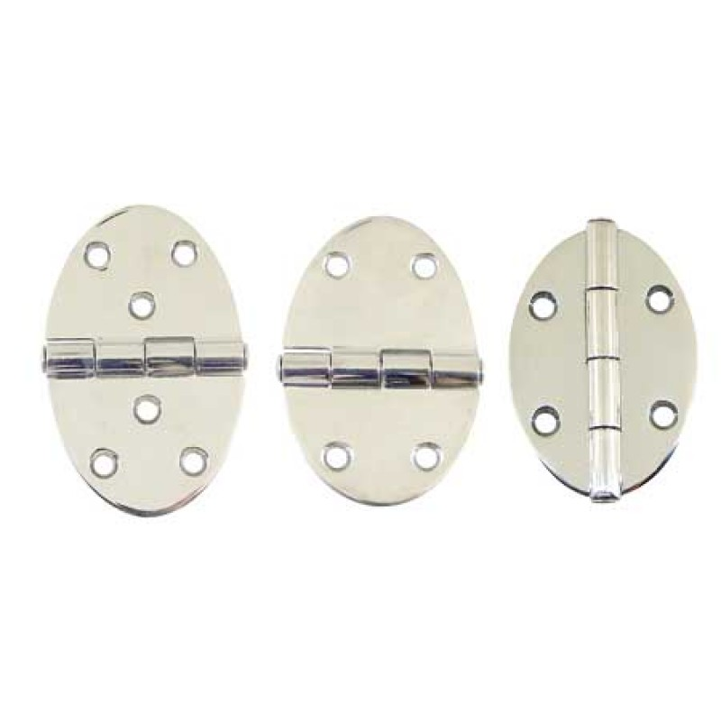 Mirror-Polished Stainless Steel oval hinges Long 78 x 56 mm