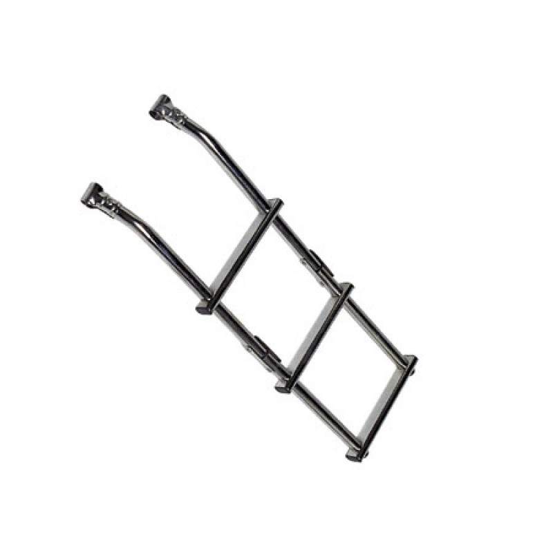 Stainless Steel folding ladder 4 steps with clamps for ø 22/25 mm tubing