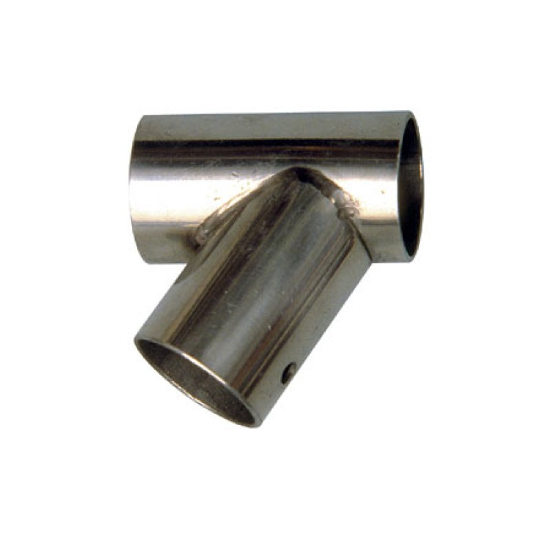 Moulded Stainless Steel 60° T connector Left 25 mm