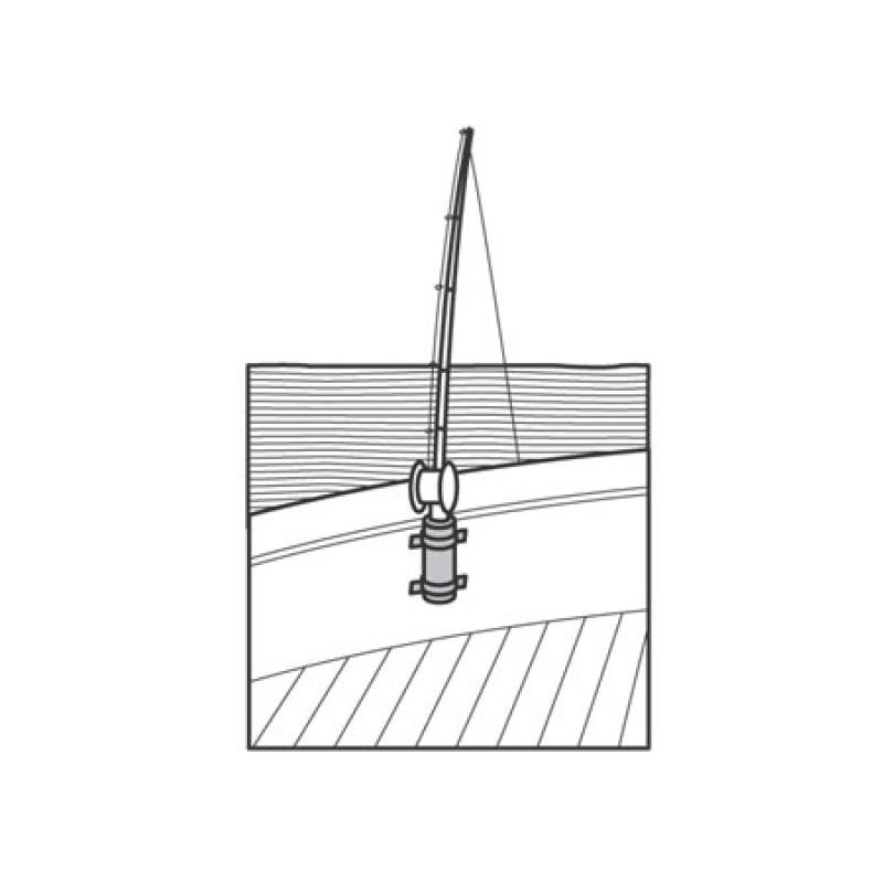 Wall rod holder D40