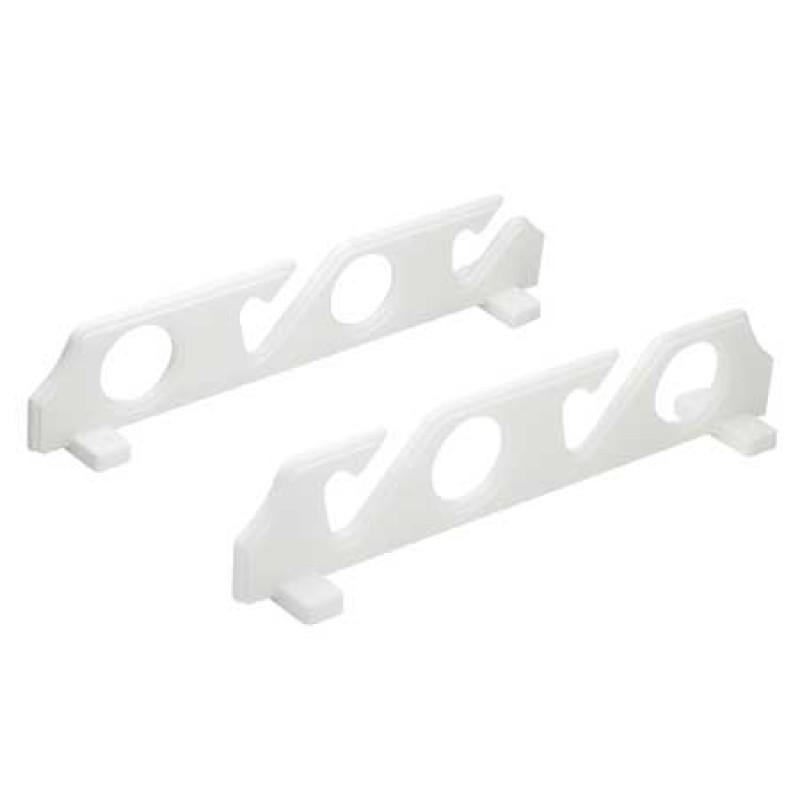 Wall mount rod racks for rods, boathooks etc 2 slots