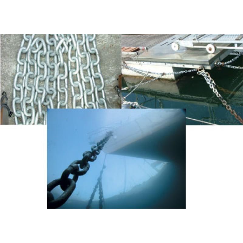 Cadena de acero galvanizado de eslabón largo 22-80.1mm x 50mt