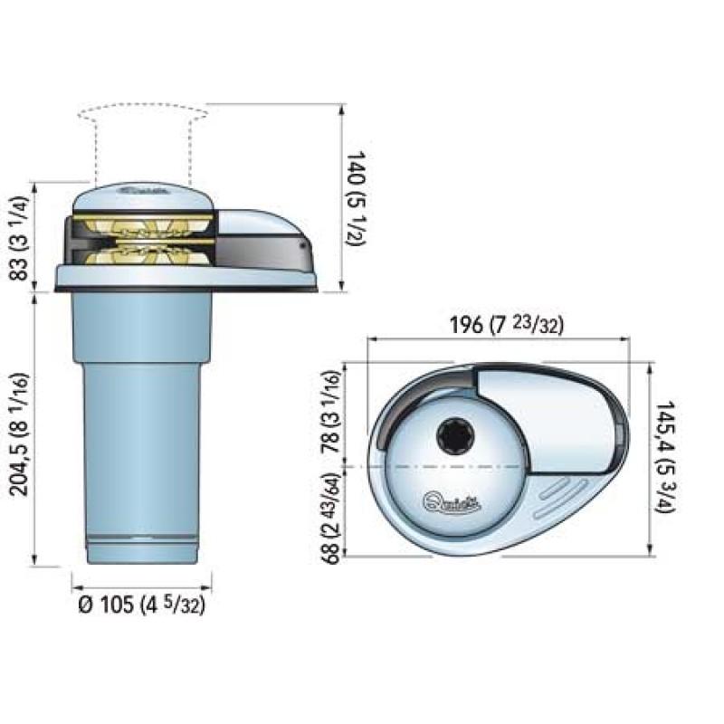 Molinete Quick Prince DP2E 800W-D 12v - Con batería -8mm Cadena