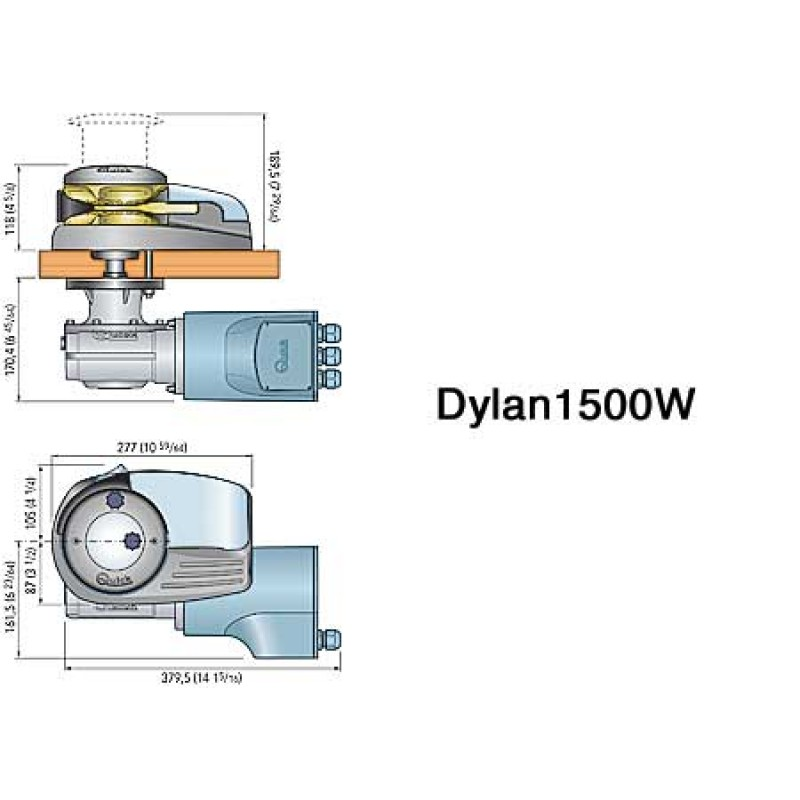dylan h-1500w windlass 12x10mm, 25,8kg