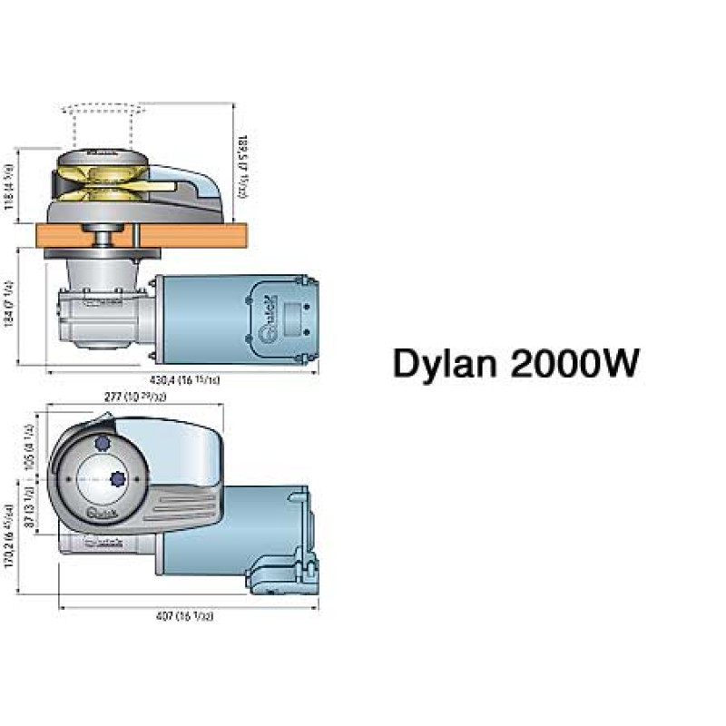 dylan h-2000 -d  windlass from 15 to 20 meters 24v